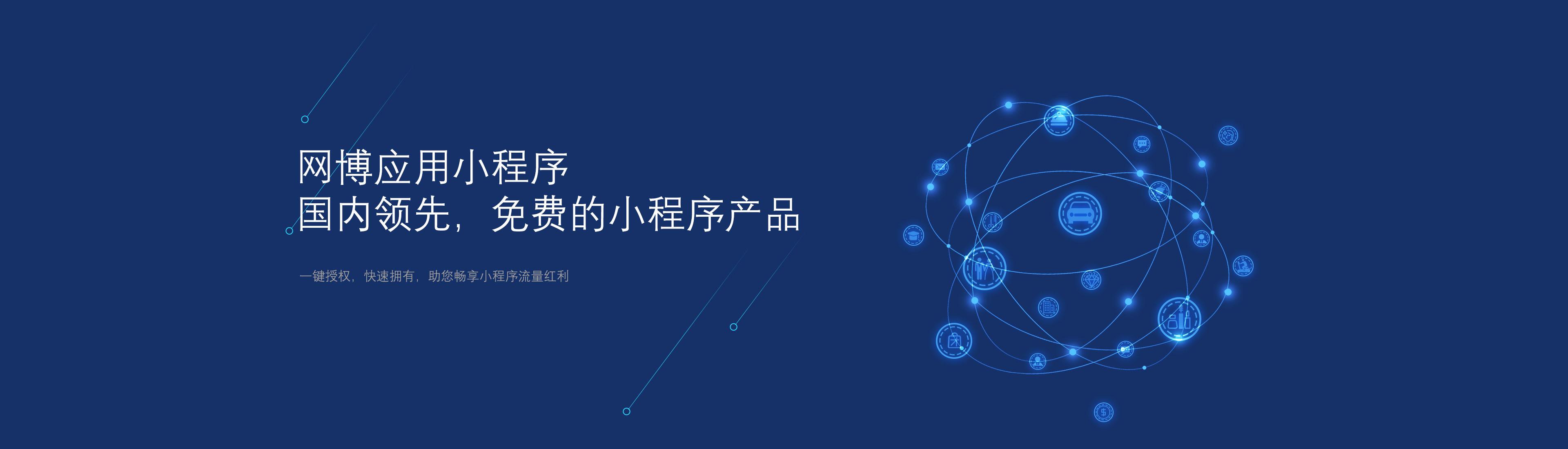 网博应用小程序开发,国内领先的免费小程序